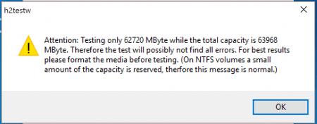 Verify SD Card Capacity