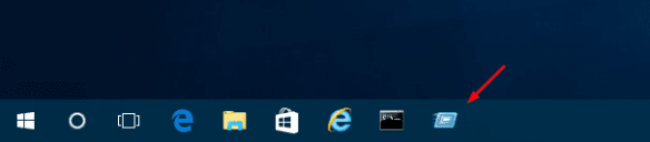 The Run command box on Taskbar