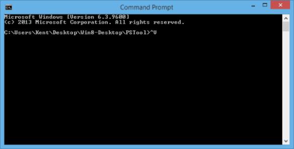 Ctrl+V displays a caret V in Command Prompt