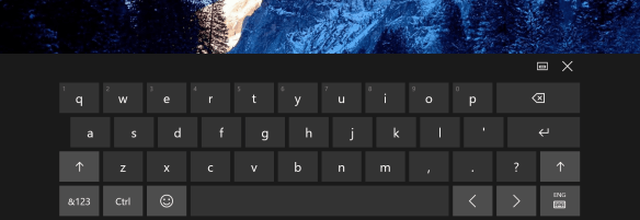 Windows 10 OnScreen Touch Keyboard