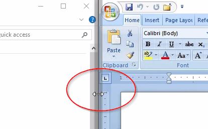 Windows 10 - snap resize shadow bar