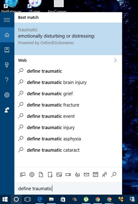 Cortana - define a word