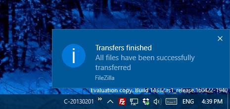 Windows 10 - notification popup 2
