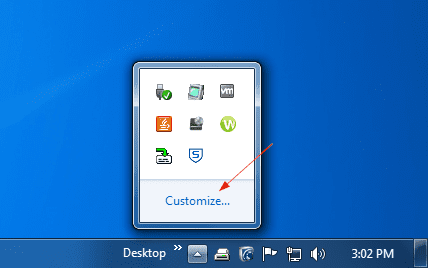 Windows 7 - opening up notification area icon