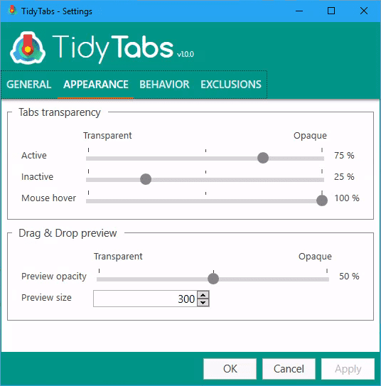 tidytab-settings