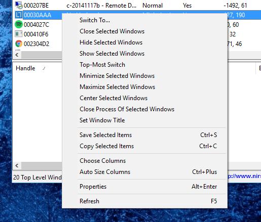 guipropview-context-menu