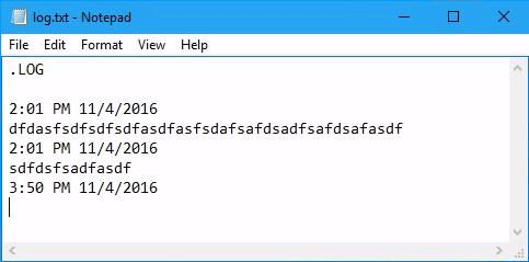 notepad-log-file