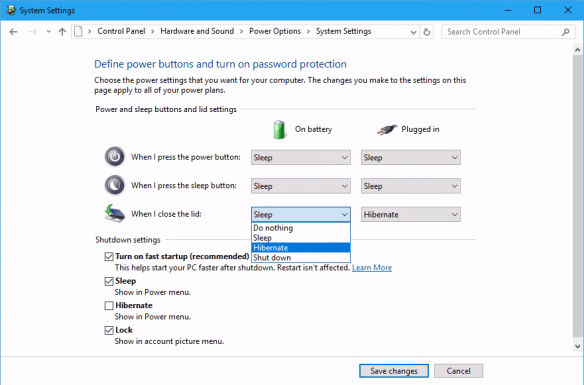 Power Options change behavior for when i close the lid 600x396 - What to Do When Your Windows 10 Laptop Keeps Waking Up from Sleep Mode