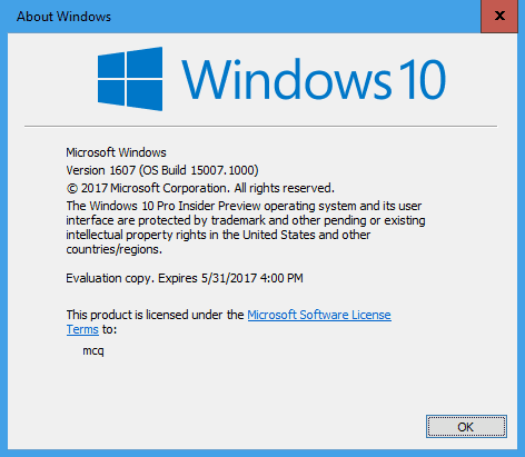 About Windows - Windows 10 Tip: What Does the Version Value Number Mean