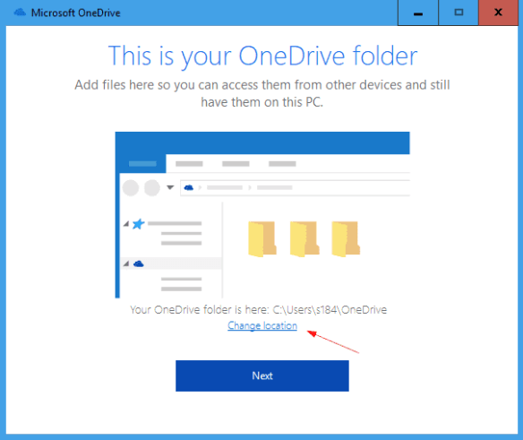 Microsoft OneDrive change location 600x504 - How To Change Default OneDrive File Location on Windows 10