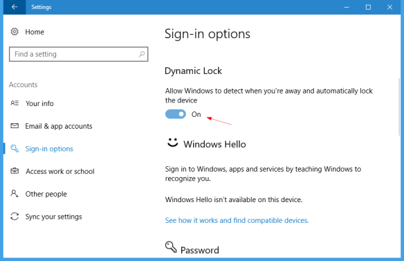Settings Accounts Sign in Options 600x387 - Windows 10: What is Dynamic Lock and How To Turn it On