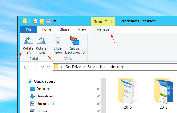 File Explorer manage rotate - Windows Tip: How To Rotate Your Photos Right in File Explorer