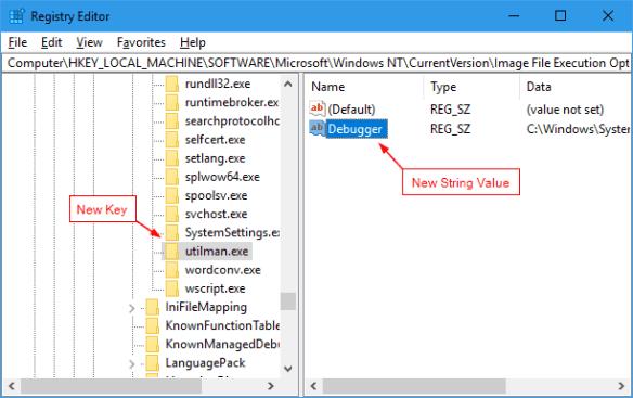 Registry Editor tweak to add snipping tool on the login screen 600x377 - Windows 10 Tip: How To Take Screenshot of Lock Screen and Login Screen