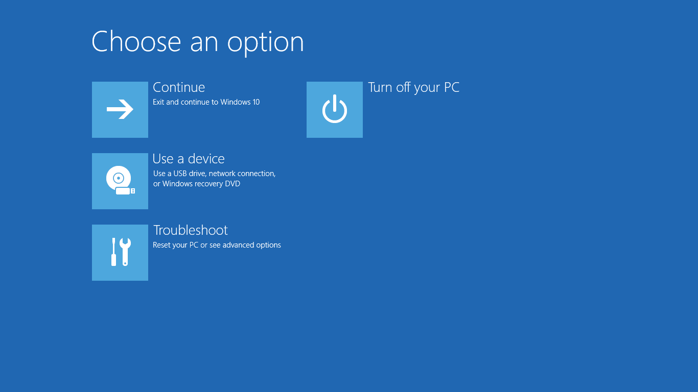 Windows 10 Tip How To Get Access to the Advanced Boot Options Menu