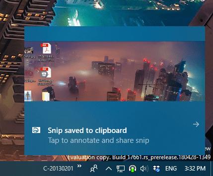 win shift s notification - Windows + Shift + S New Way To Take Screenshots - Windows 10 Creators Update