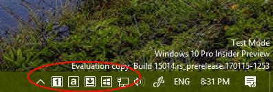 TrayStatus system tray - Windows 10 Tip: How To Check Keyboard Keys Status on Taskbar