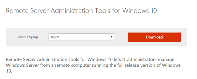 Download Remote Server Administration Tools for Windows 10 from Official Microso - How To Install PowerShell Active Directory Module on Windows 10