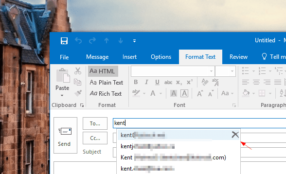 Outlook delete a cached email address - Outlook Tip: What To Do When Receipt Receives Winmail.dat Attachment from You