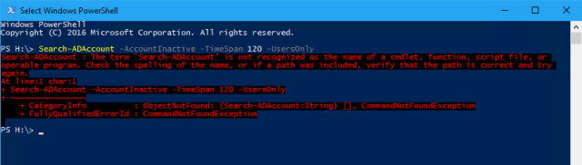 Run PowerShell cmdlet not installed - How To Install PowerShell Active Directory Module on Windows 10