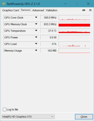 GPU-Z - Senses tab