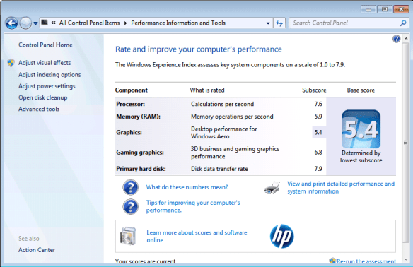 Windows 7 Experience Indes 600x388 - Getting Windows Experience Index Score on Windows 10