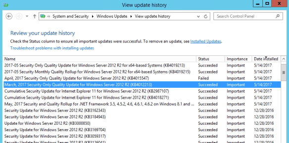 Windows Server 2012 patch installed for WannaCry 600x298 - What Windows Patches Needed to Prevent WannaCry Ransomware