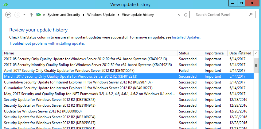 how to stop windows update windows server 2012