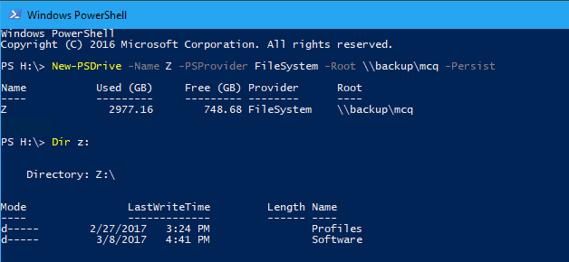 PowerShell New PSDrive - 3 Ways to Map Network Drive in Windows 10