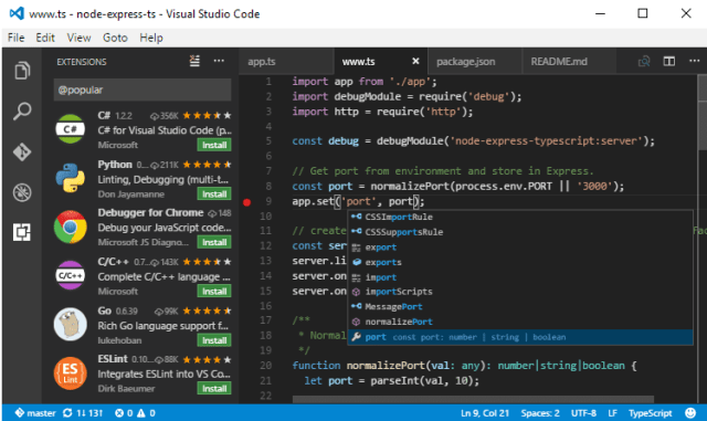 Visual Studio Code - 4 Best Free Notepad Alternative Text Editors of 2017 for Windows