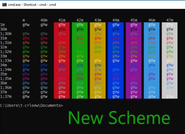 Windows Console New color - Windows Console Command Prompt Gets A New Default Color Schema
