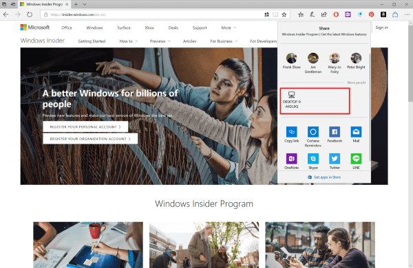 Windows 10 Edge Near Share 600x390 - Near Share is Microsoft's Answer to Apple's AirDrop for PC