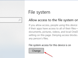 How To Disable App Access to File Systems on Windows 10