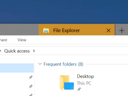 How To Use New Tabs in File Explorer in Windows 10