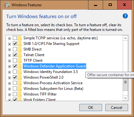 image 3 - Windows 10 Tip: How To Open Application Guard Window in Edge