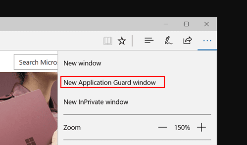 image 5 - Windows 10 Tip: How To Open Application Guard Window in Edge