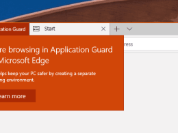 Windows 10 Tip: How To Open Application Guard Window in Edge