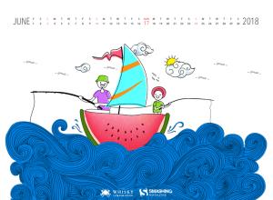 Download Smashing Magazine Desktop Wallpaper June 2018 Windows 7/8/10 Theme