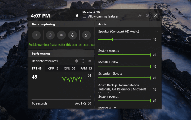 Gaming Performance video - Windows 10 Tip: How To View Game Performance in Game Bar