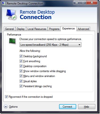 enable aero theme RDP