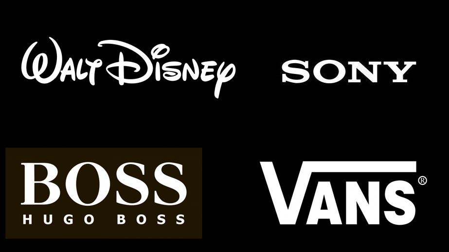 La gama de colores y su importancia logos en blanco