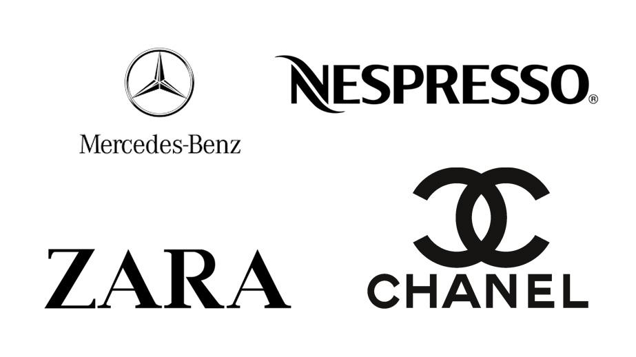 Logos de marcas en color negro