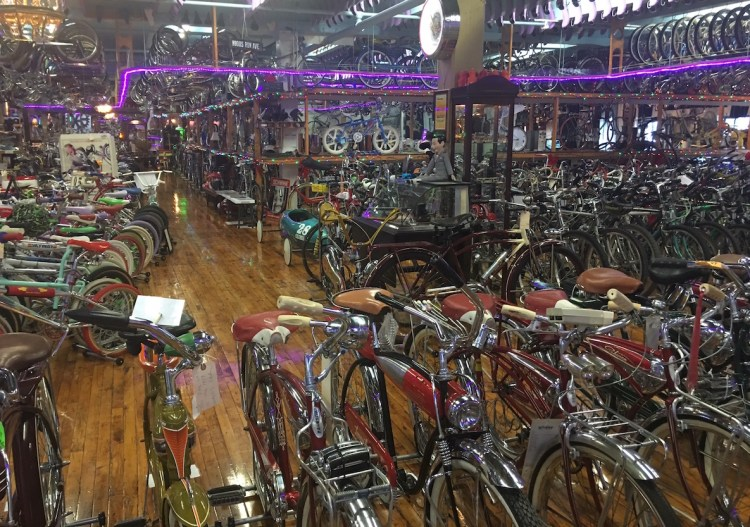 Bicycle Heaven is stuffed with 3500 bikes, not to mention a whole lot of parts.