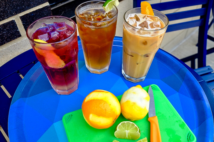 Bombay Summer, Arriviste C&T, The Vezio Special (left to right). Photo by Arriviste Coffee Bar.
