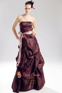 Brown Taffetta Bridesmaid Dresses - Bridesmaid Dresses