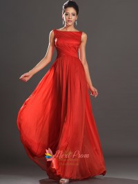 Long Red Open Back Chiffon Prom Dresses With Straps   Next ...