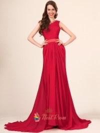 Red One Strap Prom Dresses - Eligent Prom Dresses