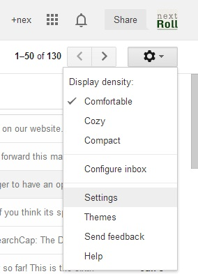 forward emails to another gmail account