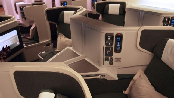 Cathay Pacific Business Class - Cabin