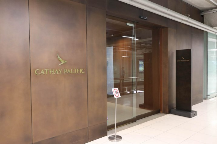 Cathay Pacific Business Class lounge at Bangkok airport - Entrance