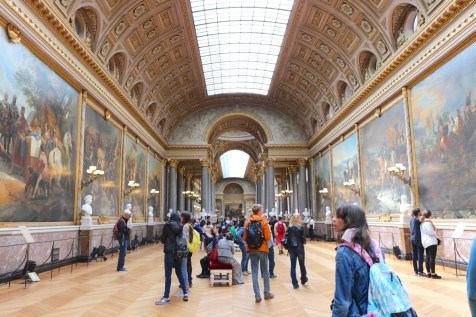 Art gallery inside the Palace of Versailles